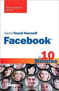 Sams Teach Yourself Facebook in 10 Minutes Book - Used