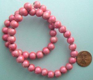 Wonder Beads Round 8mm Strand Dusty Rose Fuschia Pink