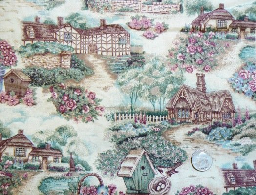 1 Yard Cotton Sewing Fabric � Enchanted Birdhouses & Cottages