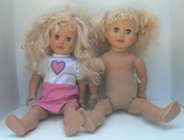 Two 18 inch Merutus Dolls Blonde Hair Blue Eyes Similar in Size to American Girl