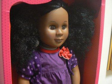 Our Generation 18 Inch Doll Abrianna Black Curly Hair Brown Eyes AA Battat New in Box NIB