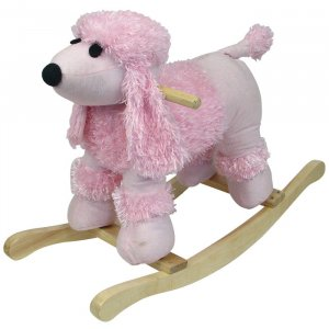 HAPPY TRAILS Poodle Plush Rocking Animal