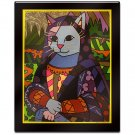 Mona the Cat by Britto Laminated Wall Ready Art 26 x 31
