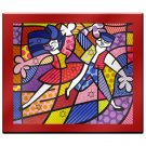 Fun Passion by Britto Laminated RED BACKGROUND Art 35 x 31