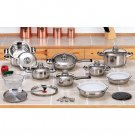 28pc 12-Element Stainless Steel Cookware Set