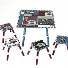 Levels of Discovery Jackson Table & 4 Stool Set