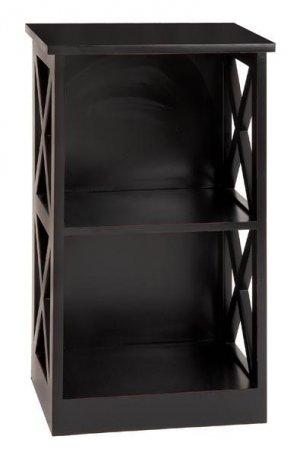 """Antiqued Black Sanded Terra Cota Wood Cabinet Shelf 25"""""""