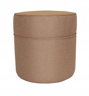 NW Enterprises, Inc. Caramel Fabric Tall Round Non-storage Ottoman