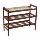 Winsome Wood Shoe Rack with Shelf-Antique Walnut