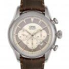 Oris Men's Artelier Automatic Chronograph Brown Leather