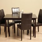 Eveleen Brown 5-piece Dining Table and Chair Set