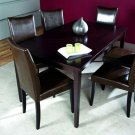 TIFFANY Shino Light Cappuccino 7-piece Dining Furniture Set