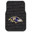 Northwestern Baltimore Ravens Front Floor Mats 2 Piece NFL Football