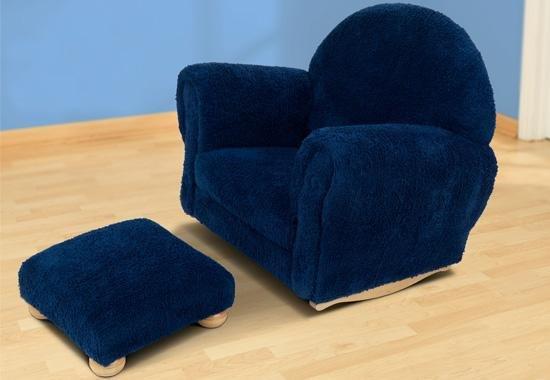 KidKraft Blueberry Chenille Upholstered Rocker & Ottoman