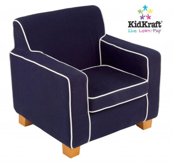 KidKraft Laguna Chair with Navy Piping