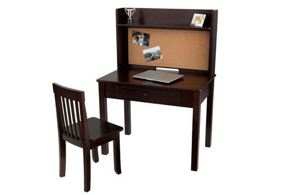 KidKraft Pinboard Desk with Hutch & Chair