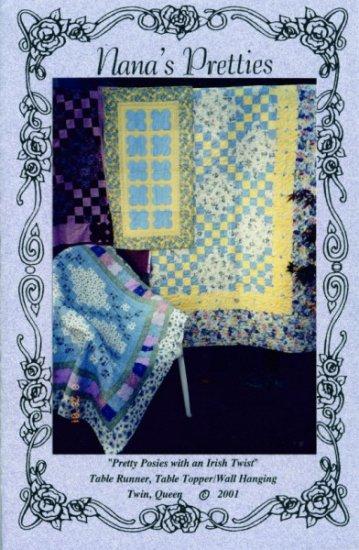Quilt Pattern - Pretty Posies with an Irish Twist by Nana's Pretties