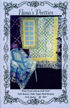 Quilt Pattern - Pretty Posies with an Irish Twist by Nana's Pretties