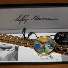 Vintage Collectors Mens Leroy Neiman Artist Tennis Watch