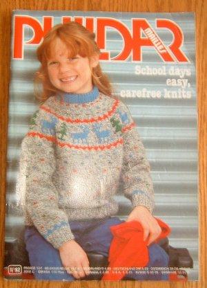 PHILDAR School Days Childrens Knitting Pattern Book #92