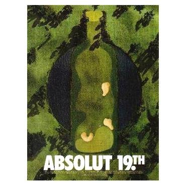 ABSOLUT 19TH Vodka Magazine Ad
