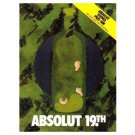 ABSOLUT 19TH Vodka Magazine Ad w/ Pro-Am Banner