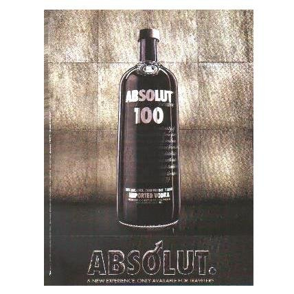 ABSOLUT 100 Vodka Magazine Ad