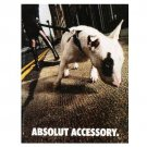 ABSOLUT ACCESSORY Vodka Magazine Ad