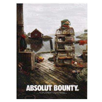 ABSOLUT BOUNTY Vodka Magazine Ad