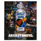 ABSOLUT BRITTO Canadian Vodka Magazine Ad