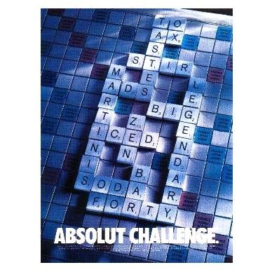 ABSOLUT CHALLENGE Vodka Magazine Ad