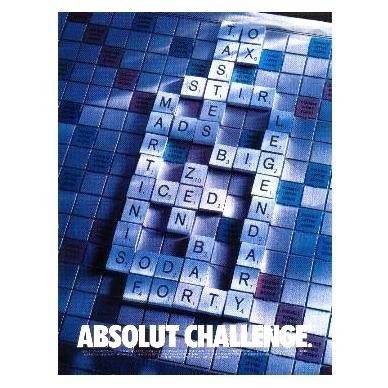 ABSOLUT CHALLENGE Vodka Magazine Ad