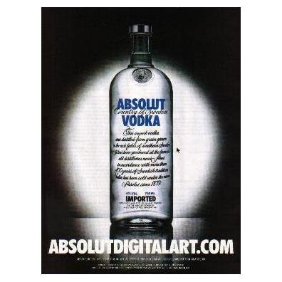 ABSOLUTDIGITALART.COM Vodka Magazine Ad CURSOR