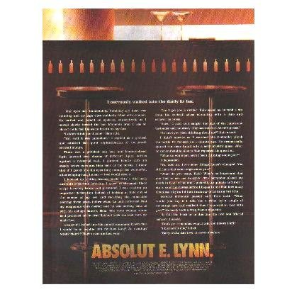 ABSOLUT E. LYNN Vodka Magazine Ad