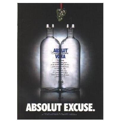 ABSOLUT EXCUSE Vodka Magazine Ad