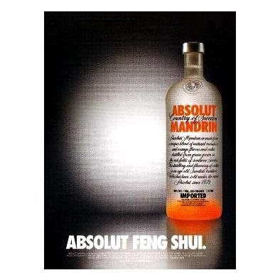 ABSOLUT FENG SHUI Vodka Magazine Ad MANDRIN VERSION