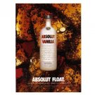 ABSOLUT FLOAT Vodka Magazine Ad