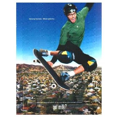 BOB BURNQUIST got milk? Milk Mustache Magazine Ad © 2003
