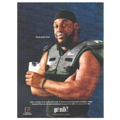 DONOVAN MCNABB got milk? Milk Mustache Magazine Ad © 2005