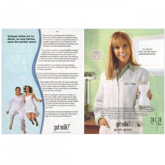 DRA ALIZA got milk? Milk Mustache Magazine Ad © 2006 SPANISH TEXT 2pp