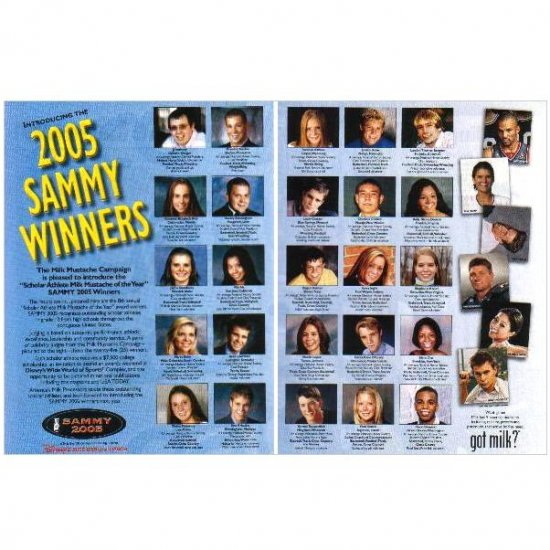 2005 SAMMY WINNERS got milk? Milk Mustache 2-Page Magazine Ad