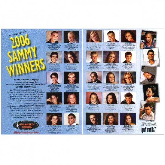 2006 SAMMY WINNERS got milk? Milk Mustache 2-Page Magazine Ad
