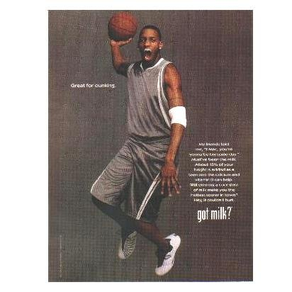 TRACY MCGRADY (BROWN JERSEY) got milk? Milk Mustache Magazine Ad © 2006