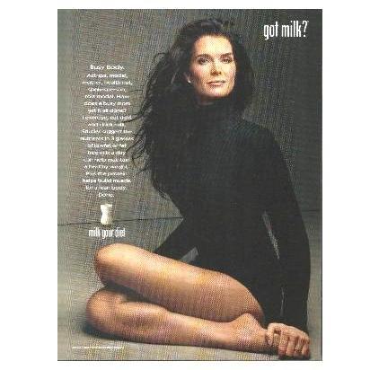 BROOKE SHIELDS got milk? Milk Mustache Magazine Ad © 2008