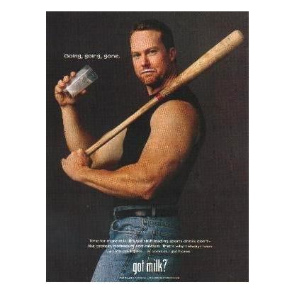 MARK MCGWIRE got milk? Milk Mustache Magazine Ad © 1998