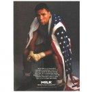 OSCAR DE LA HOYA Milk Mustache Magazine Ad © 1996