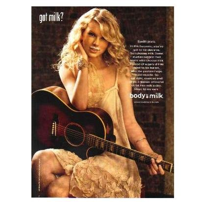 TAYLOR SWIFT got milk? Milk Mustache Magazine Ad © 2008