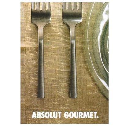 ABSOLUT GOURMET Vodka Magazine Ad