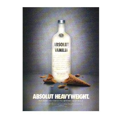 ABSOLUT HEAVYWEIGHT Vodka Magazine Ad