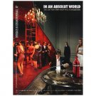 IN AN ABSOLUT WORLD Masquerade Spanish Language Vodka Magazine Ad